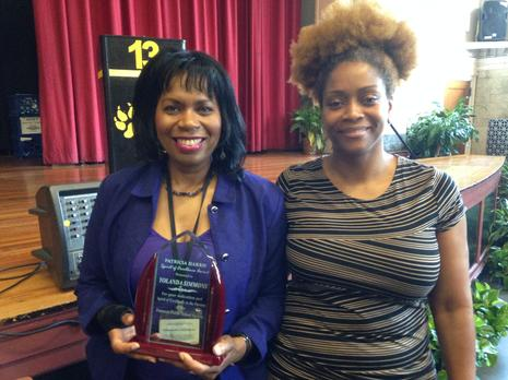 Ms. Simmons is the 2016 Recipient of the PPS Patricia Harris Spirit of  Excellence Award